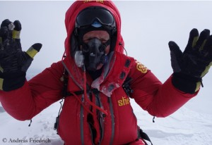 Andreas Friedrich on top of Mount Everest