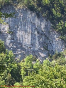 The rock face on the Brendlberg