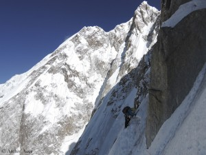 During the frist ascent of the 7000er Kunyang Chhish East in Pakistan