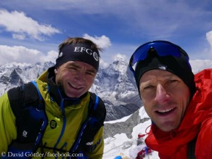 Ueli Steck (l.) and David Goettler