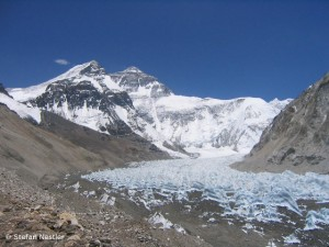 Base camp below the Everest North Face
