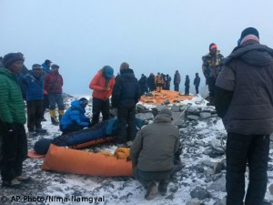 Rescue after Saturday's avalanche triggered from Pumori