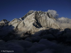 Shadow falling on Everest