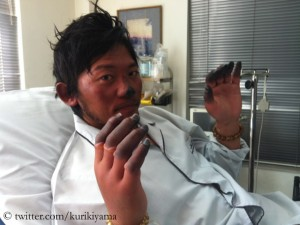 Kuriki after his Everest attempt in fall 2012
