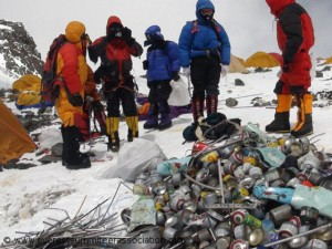 Garbage at the South Col