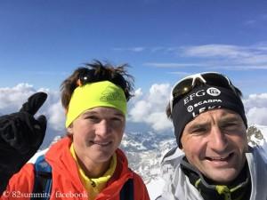 Michi Wohlleben (l.) and Ueli Steck