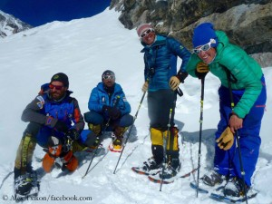 Lunger, Moro, Sadpara, Txikon (from r. to l.)