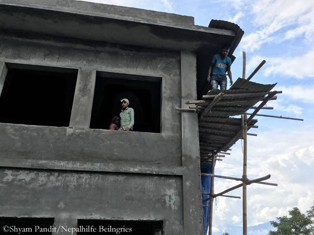 Construction site: School in Thulosirubari August 2017