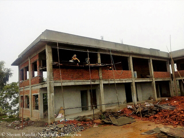 Thulosirubari construction site in July 2017