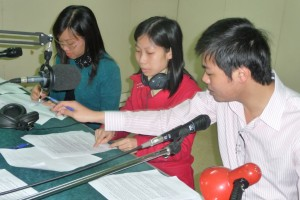 journalists at Vietnam's QTV Radio