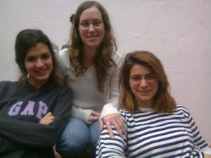 Estafanía, Mariana and Clara - my German classmates (Foto: Maria Cruz).