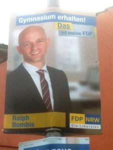 Wahlplakat der FDP in Nordrhein-Westfalen (Foto: Kathrin Biegner)