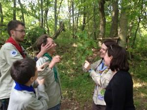 Gruppenbilung bei den Pfadfindern (Foto: Kathrin Biegner).
