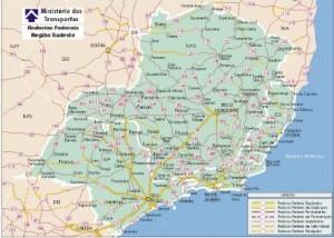 Mapa_Rodoviario_Regiao_Sudeste_Brasil