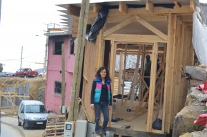 Carolina Moraes is building houses that are better than what local residents live in before the fire (Photo: E. O'Neill)