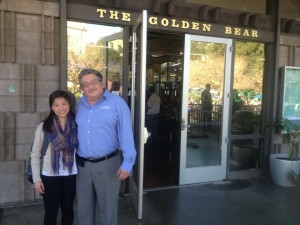 Chloe Tsang convinced Samuel Hernandez, the supervisor of Golden Bear Café at the UC Berkeley campus, to donate leftover food through Feeding Forward's website (Photo: Anne-Sophie Brändlin)