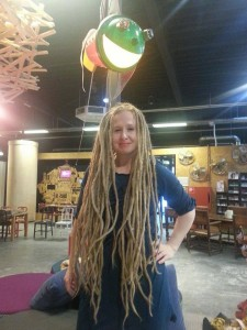 Kelly has been growing her dreadlocks for ten years (Copyright: L.Postma)