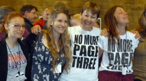 Laura Bates with MP Caroline Lucas