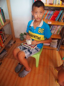 A young reader in Beijing