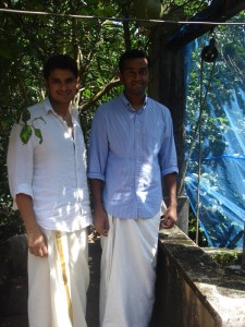 Matthew (right) and his friend Tushar