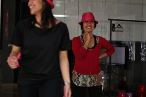 Melisa Rodrigues is practicing her dance moves for the One Billion Rising event (Photo: Miguel Fascinado)
