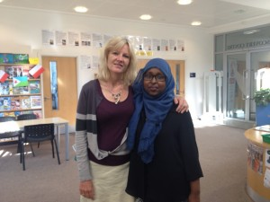 Muna's teacher Lisa Zimmerman encouraged Muna and three of her friends to enagage with with the issue of female genital mutilation.