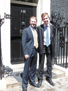 Philipp von der Wippel and MP David Morris