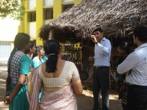 Mathew conducts awareness campaigns in schools and residential areas in Chennai. Here, he talks to some students and teachers at a school.
