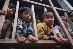 Kids at a refugee school in Burma