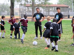 Mark at YALLA soccer practice