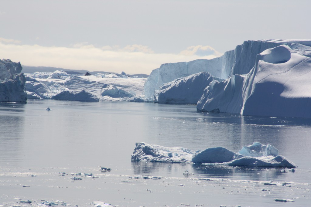 The Arctic ice continues to melt...