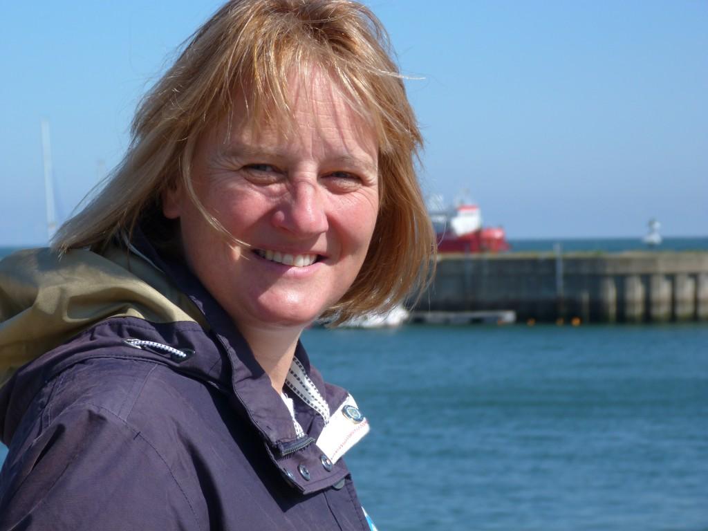 Karen Wiltshire on Helgoland (pic: I.Quaile)