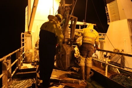 Investigating the undersea secrets of the Arctic night from the research vessel Helmer Hanssen (Pic: I.Quaile)