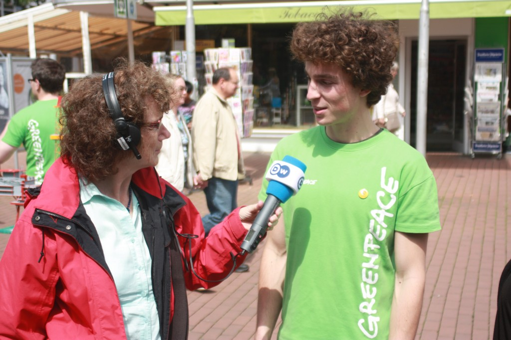 Greenpeace Volunteer Lukas
