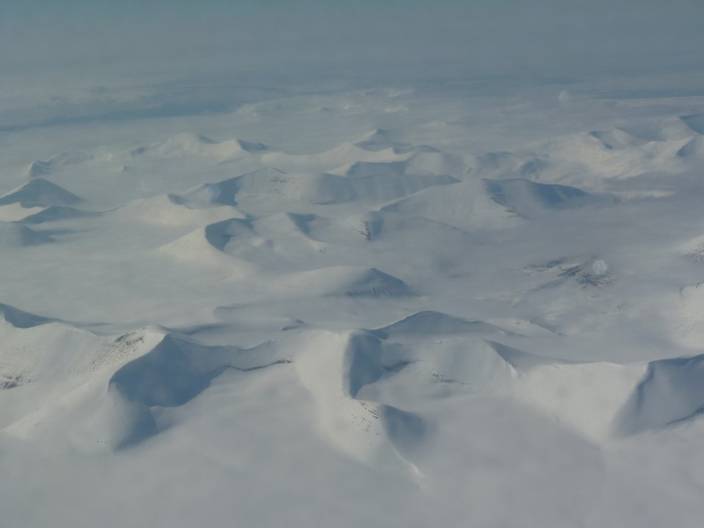 The Arctic island of Svalbard from the air