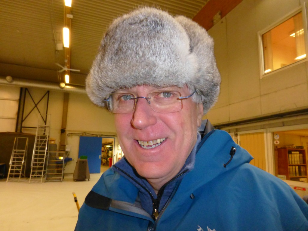 Stig Falk-Petersen in the hangar at Longyearbjen airport. ((I.Quaile 2015)