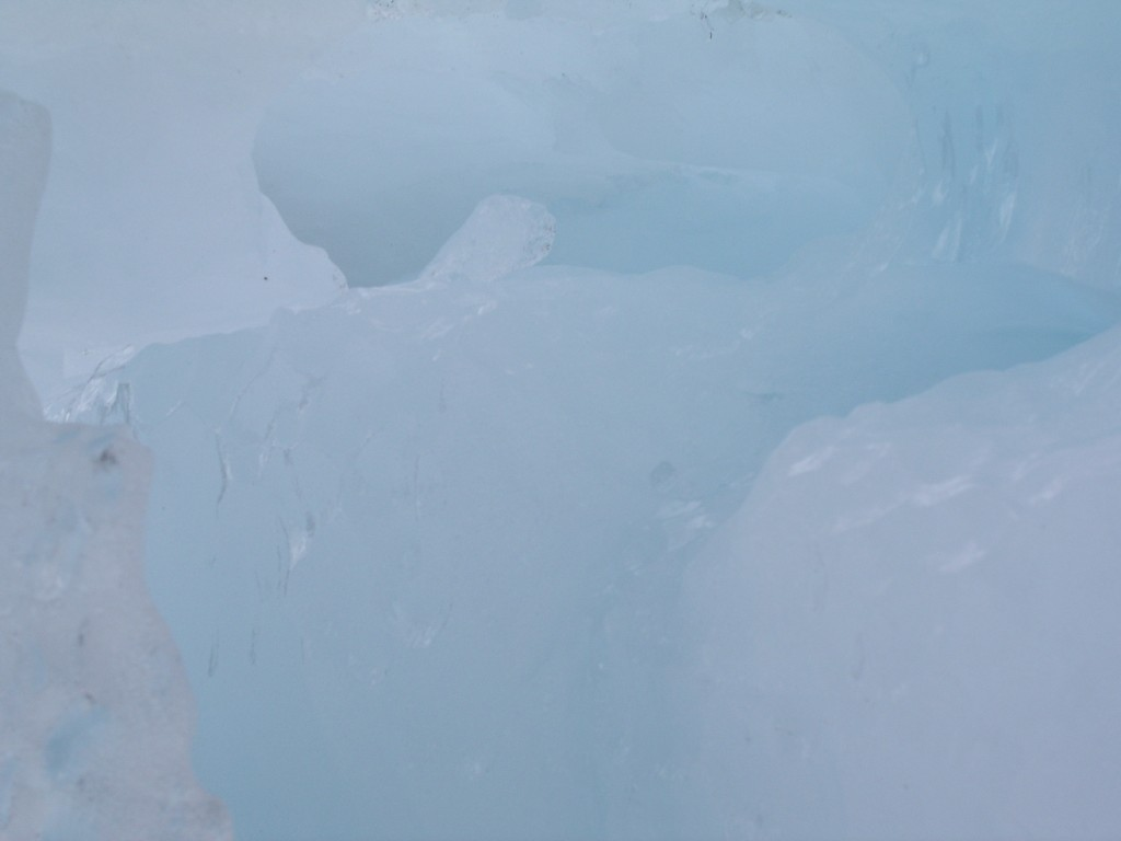 Alaska ice close up