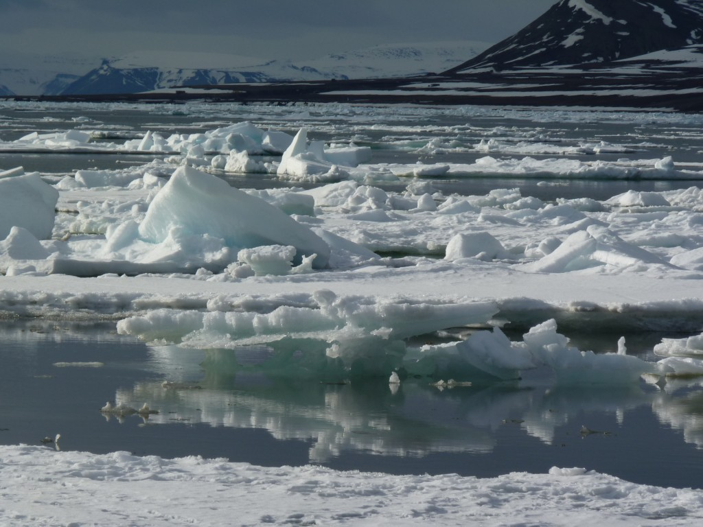 Melting ice off Svalbard  (Pic I.Quaile)