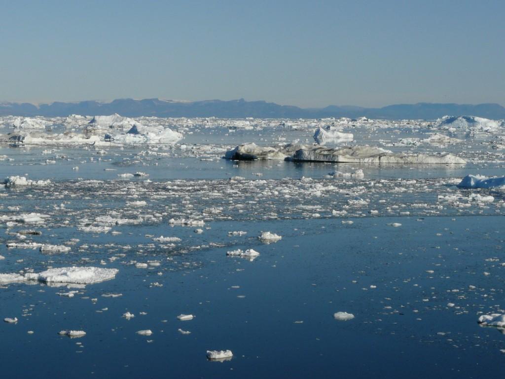 Melting ice, off Greenland