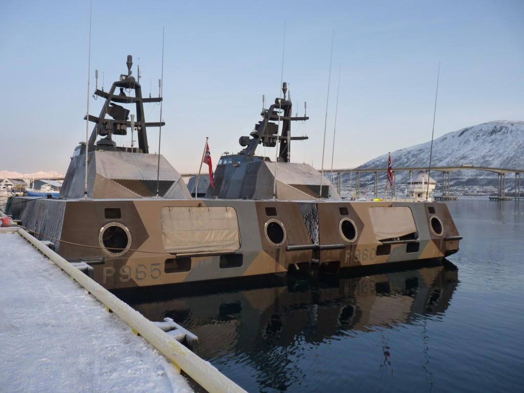 Norwegian naval patrol boats in Tromso harbour (I. Quaile)