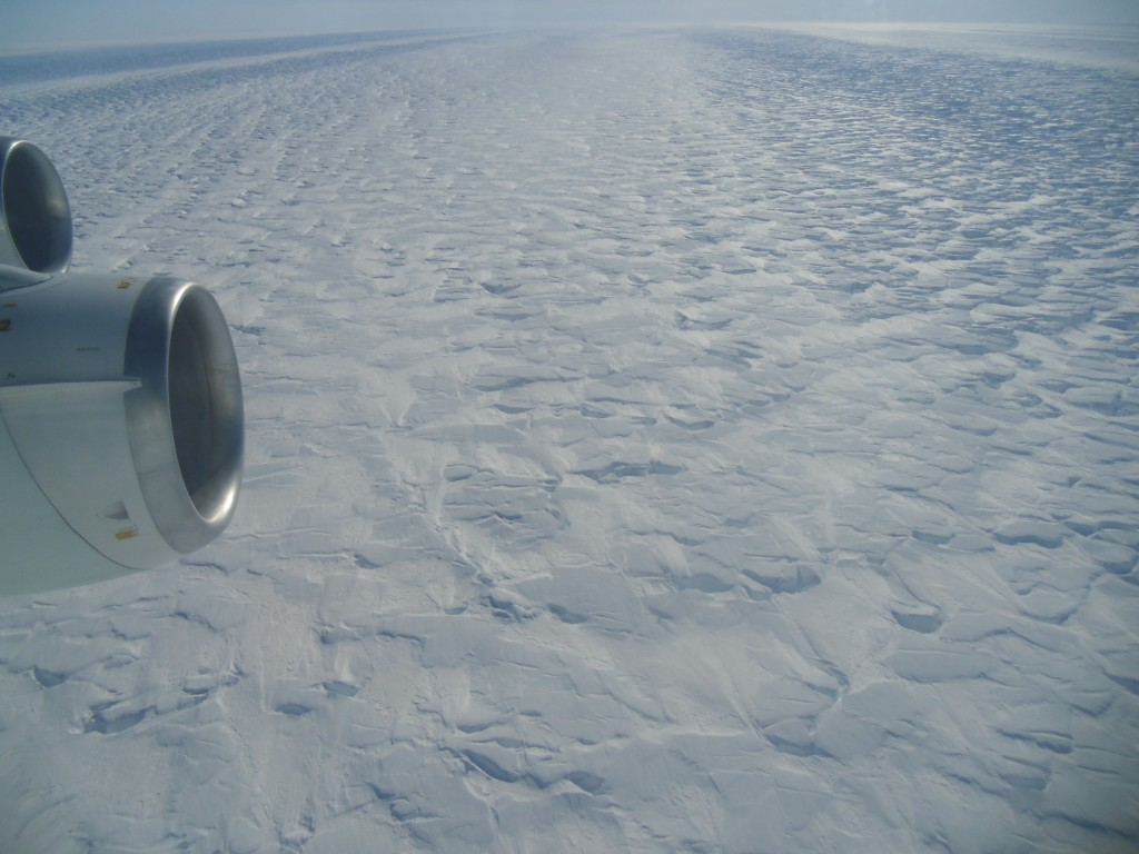 Angelika Humbert from AWI took this picture flying over the Pine Island Glacier in 2013