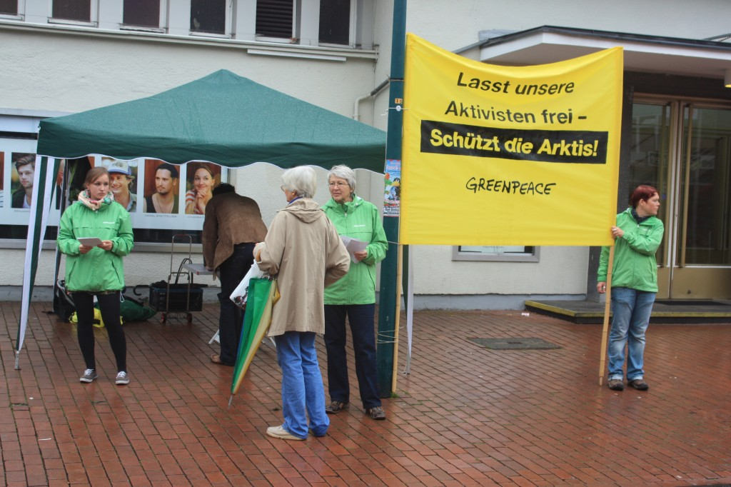 Greenpeace protest in Bad Godesberg