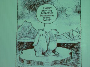 Arctic psychologist Stoknes' cartoon