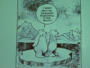 Arctic psychologist Stoknes' cartoon