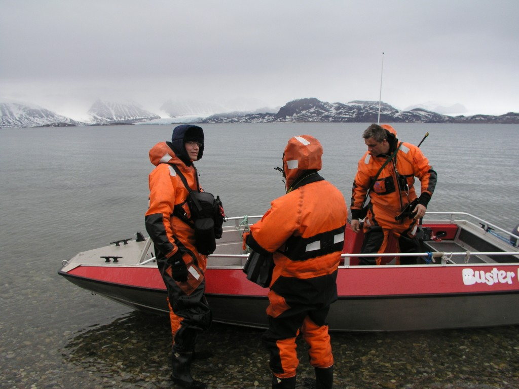 Scientists set out to check impact of sedimentation, here from Spitsbergen (I.Quaile)