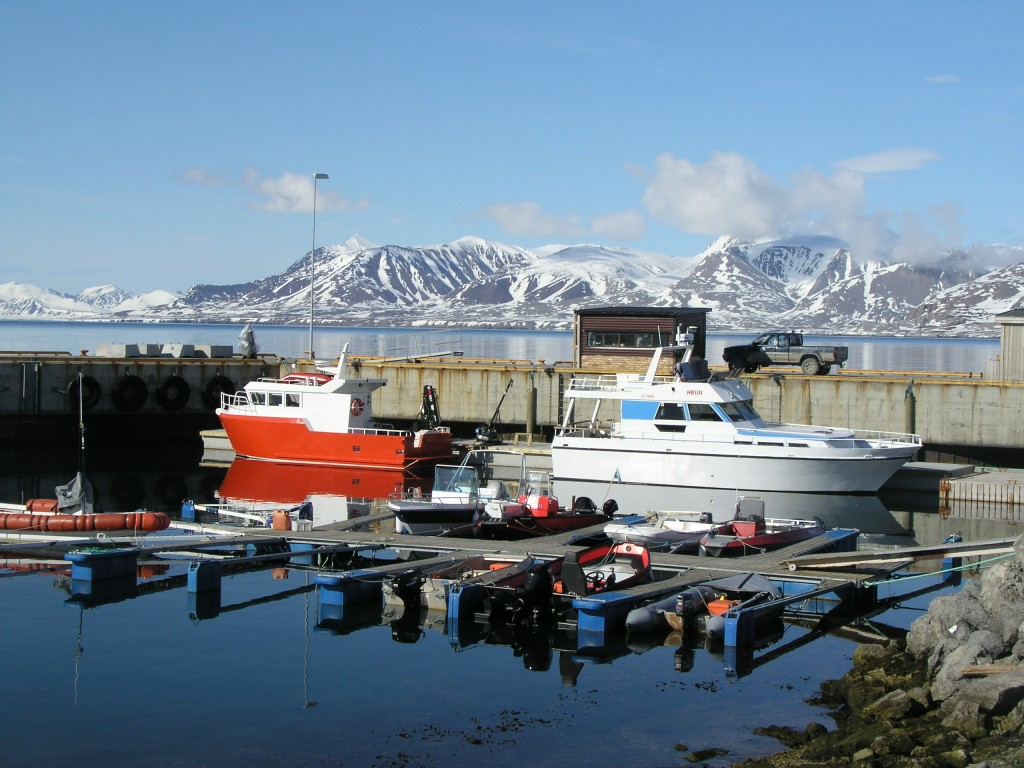 The world's northermost marire laboratory harbour in Ny Alesund, Spitzbergen. (Pic: I.Quaile)