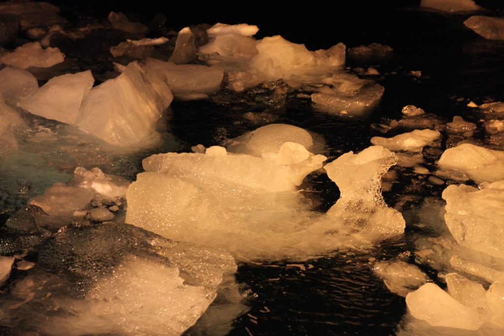 Ice is a problem for shipping and other activities in the dark season