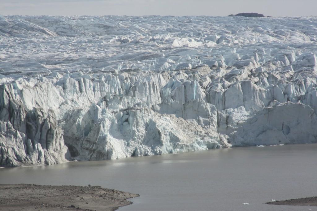 Greenland ice wall