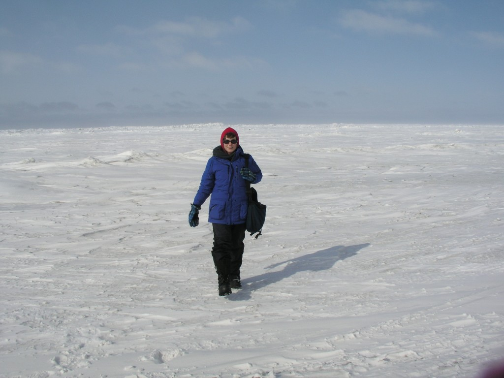 iceblogger on chukchi sea