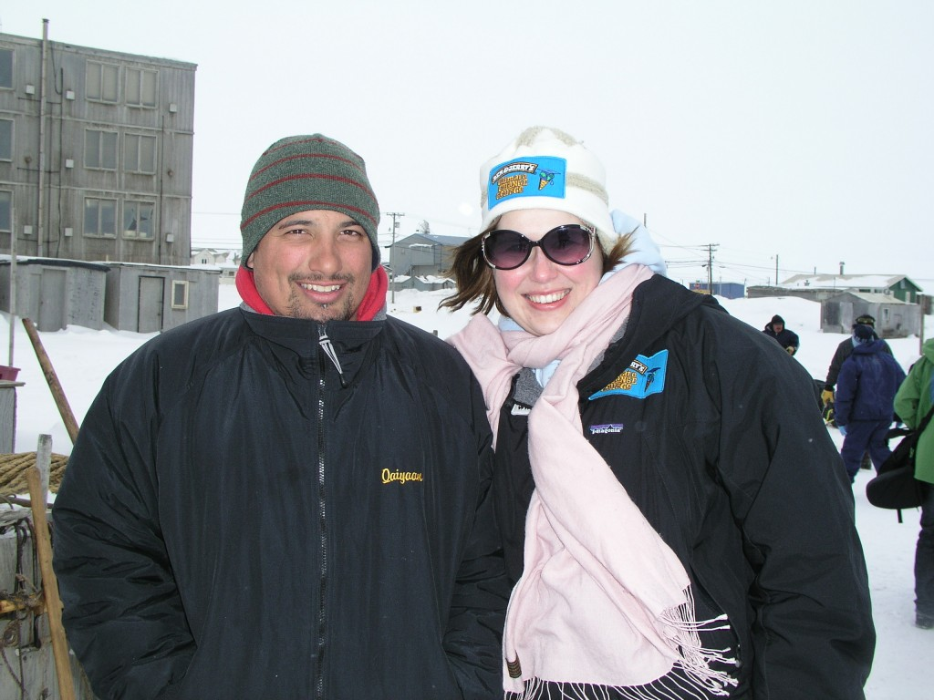 "Cara and Kayan - ""Give me a solar-powered snow mobile and I'll use it"" was the young Eskimo's quip in Barrow, Alaska."